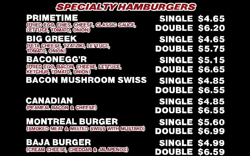Simon's Prime Hamburgers-Chatham Menu 2