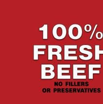 100% Fresh Beef
